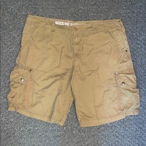 Men's tan cargo shorts